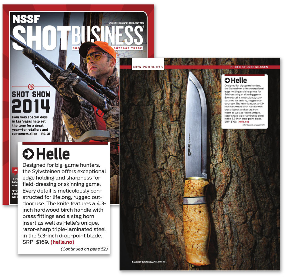 Helle Shot Business April